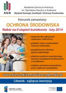 Nabór Studentów na II stopień studiów - OCHRONA ŚRODOWISKA